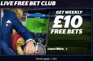 10Bet Live Free Bet Club