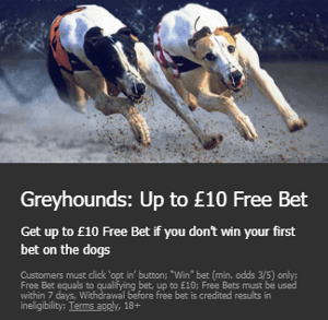 10bet risk free greyhound free bet