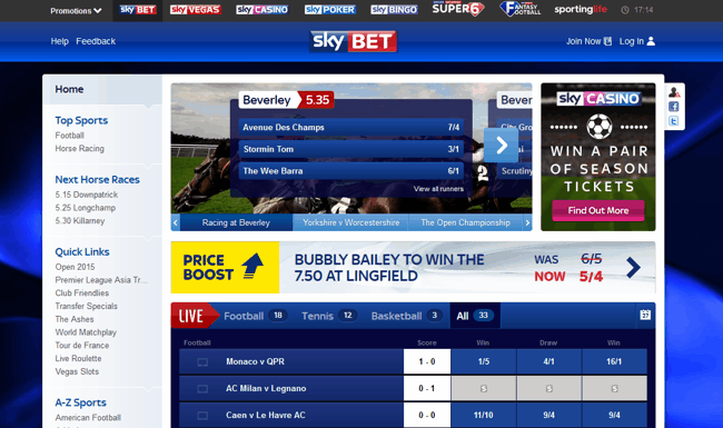 skybet screenshot