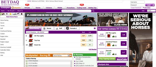 Betdaq screenshot