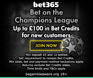 bet365 champions league offer