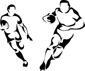 rugby player silhouettes
