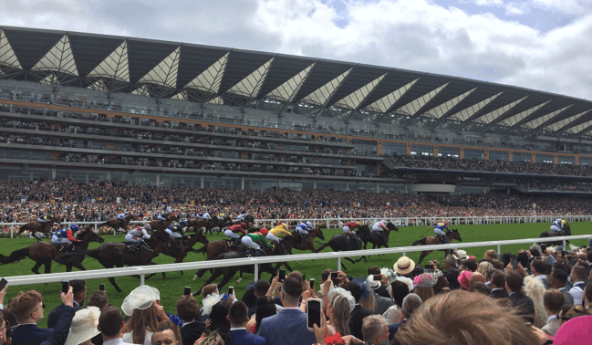 flat racing at the prestigious ascot racecourse