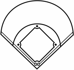 baseball field outline
