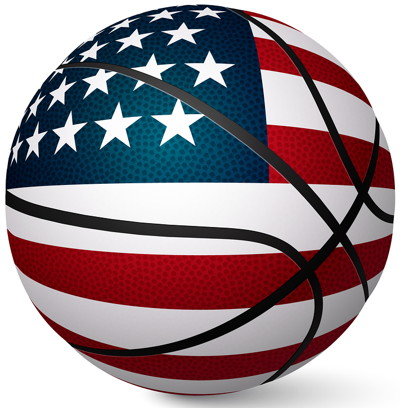 basketball with the american flag