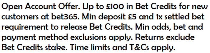 bet365 uk sportsbook main offer compliant text
