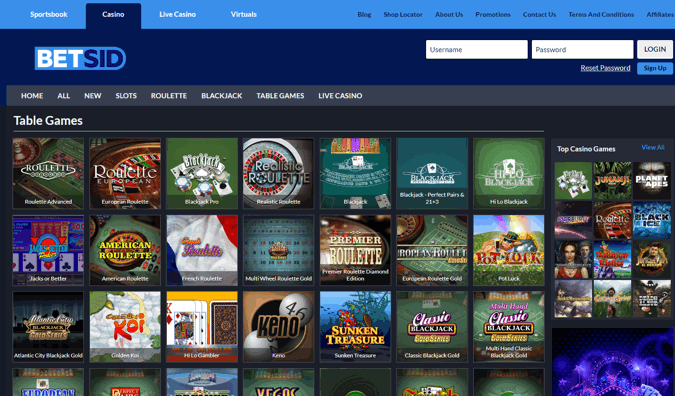 betsid casino screenshot