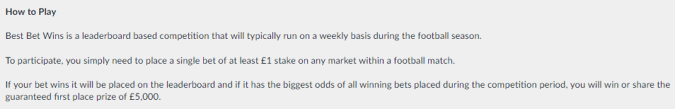 betvictor best bet wins how to play