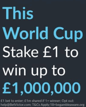 betvictor the million pound bet world cup 2018