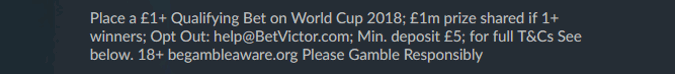 betvictor the million pound bet world cup 2018 significant terms