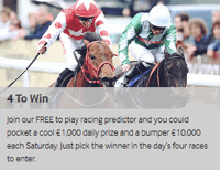 betway 4 to win free daily racing prediction game