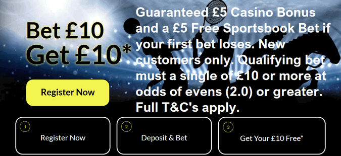 black type bet uk welcome offer page screenshot