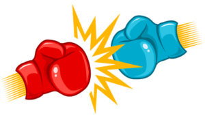 boxing gloves impacting