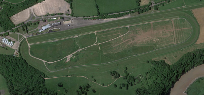chepstow racecourse used for welsh grand national viewed from above