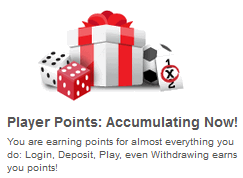comeon player points