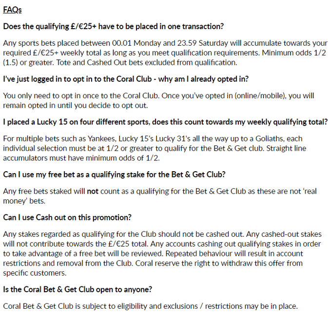 coral bet and get faq