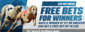 Coral Greyhounds Free Bets For 2/1+ Sky Race Winners
