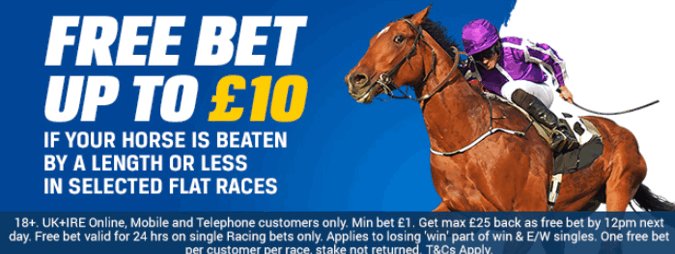 coral beaten by a length uk flat horse racing money back offer
