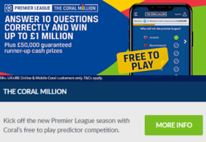 coral million premier league