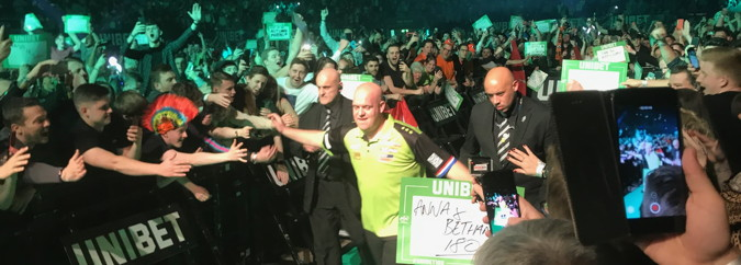 darts premier league michael van gerwen walking onto stage