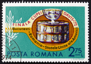 davis cup romanian postage stamp