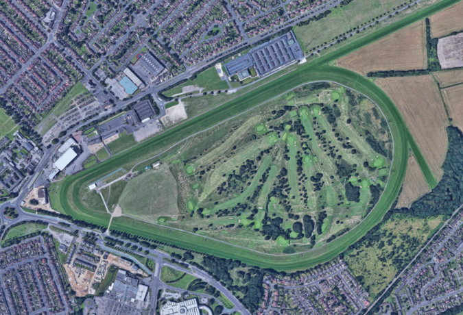 doncaster racecourse from above