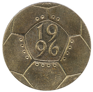 euro 1996 commemorative pound coin
