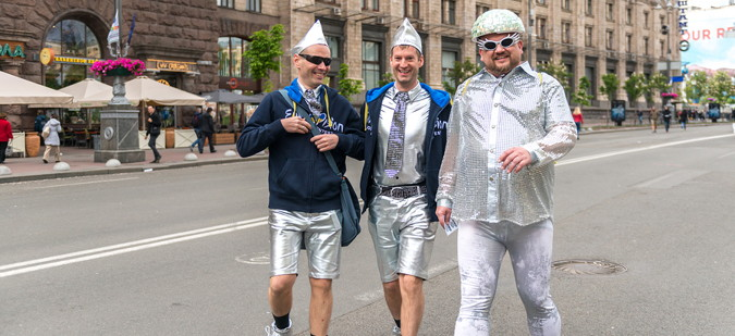 eurovision song contest fans in costumes