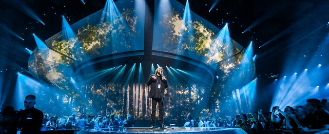 eurovision song contest winner performing