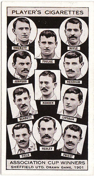 fa cup old cigarette playing card from 1901