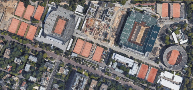 french open roland garros courts from above