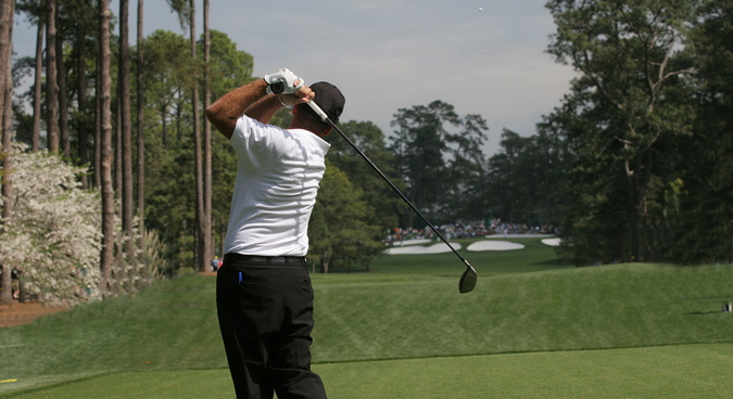 golf at augusta in the us masters tournament