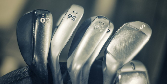 golf clubs selection of irons