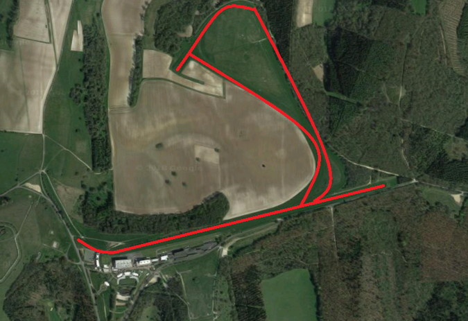 goodwood racecourse ariel view
