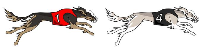 greyhounds racing graphic