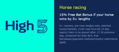William Hill High 5 Jump Racing Bonus