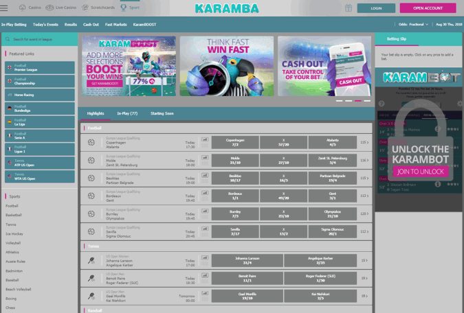 karamba sports screenshot