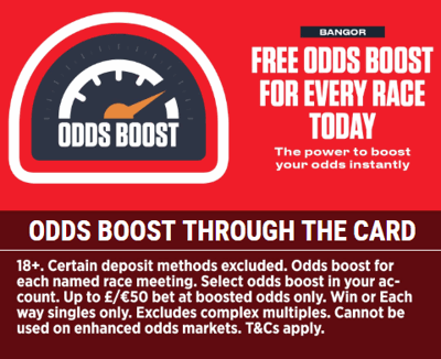 ladbrokes odds boost through the card