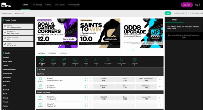 moplay home page screenshot