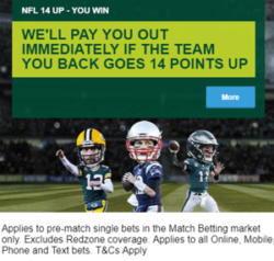 paddy power nfl 14 points offer