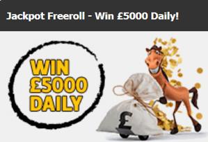 Racebets Jackpot Free Roll, £5000 Daily Prize