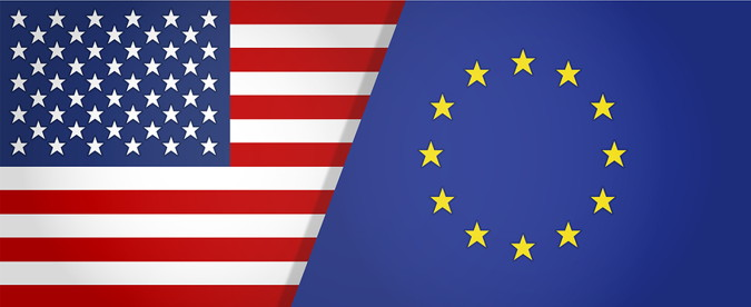 ryder cup split usa and europe flag