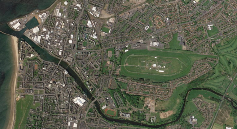 scottish grand national ayr racecourse from above
