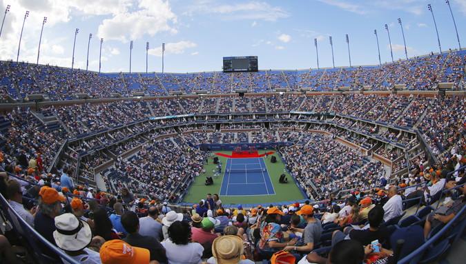 tennis us open arthur ashe stadium inside view