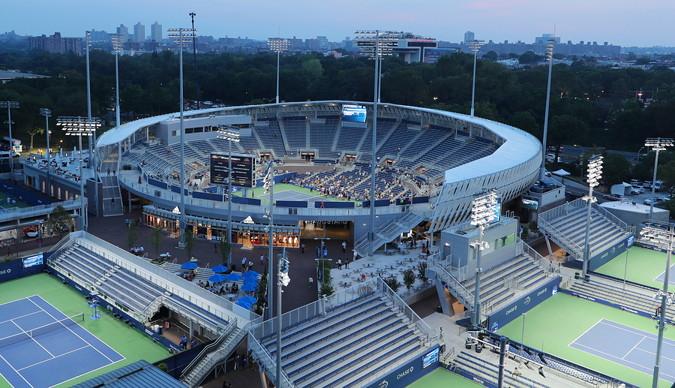 tennis us open arthur ashe stadium outside view