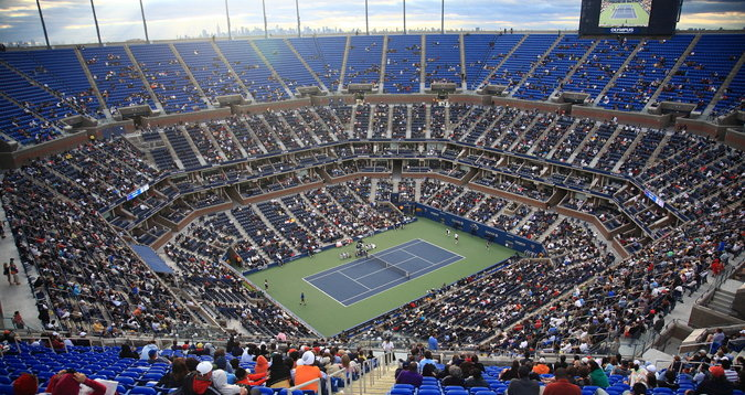 tennis us open stadium top row