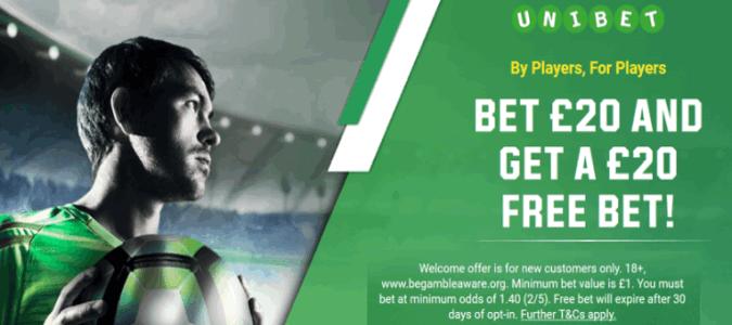 unibet welcome offer bet 20 get 20