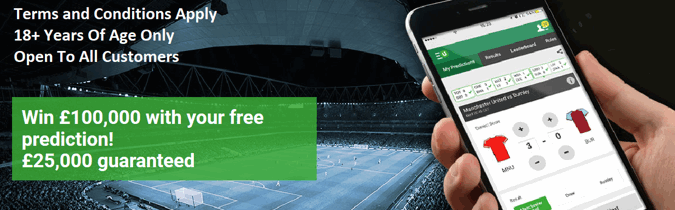 Unibet Premier League Free Score Prediction Game, Win up to £100k