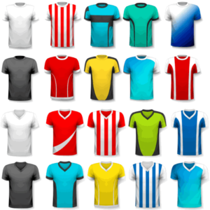various football kits