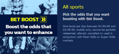 william hill bet boost feature